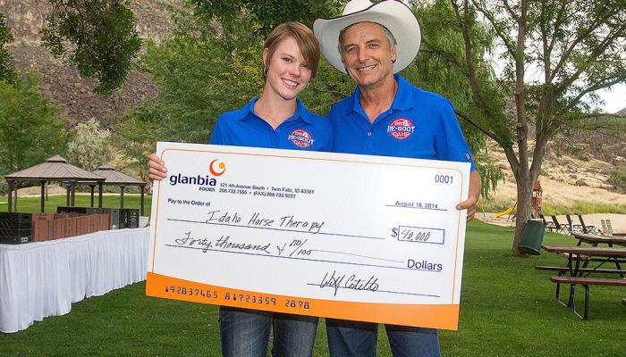Idaho Re-Boot Camp Glanbia donation